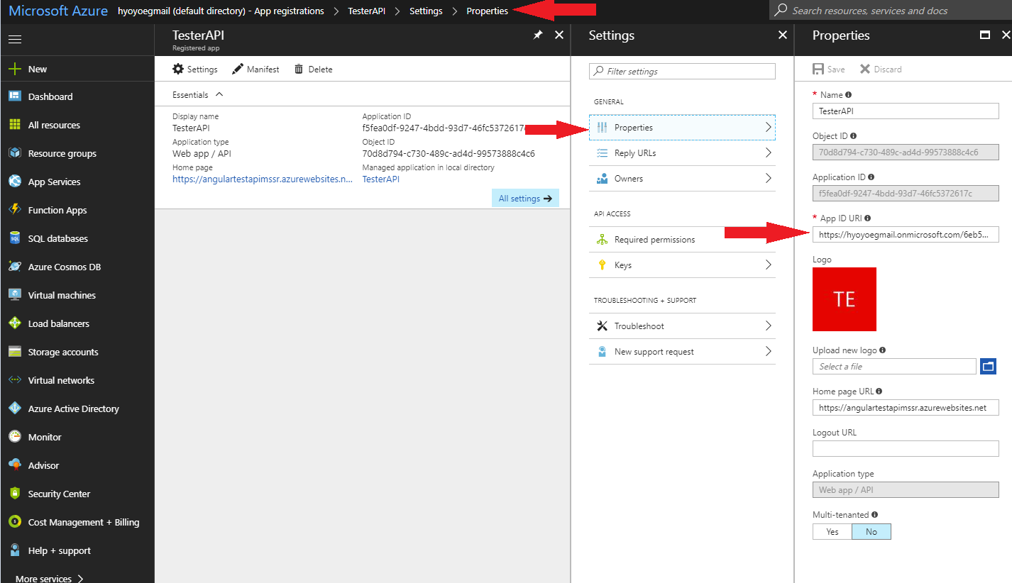 Creating Restful Web Services with Web Tokens and Azure Active